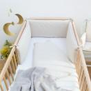 tour de lit et gigoteuse bebe asanoha beige