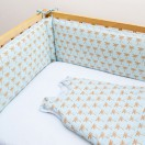 tour de lit et gigoteuse bebe palmier celadon