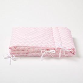 tour de lit couffin triangle rose