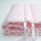 tour de lit fille triangle rose soufflet