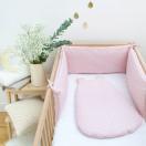 tour de lit et gigoteuse bebe rose asanoha