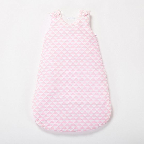 gigoteuse bebe fille triangle rose dragee