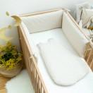 gigoteuse et tour de lit bebe asanoha beige
