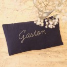 coussin double gaze marine brode gaston