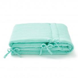 Tour de lit bébé gaze de coton menthe