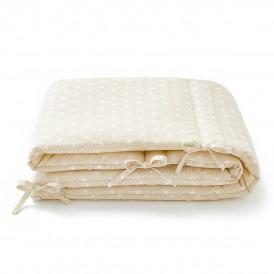 Tour de lit beige Asanoha