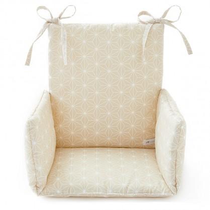 Coussin de chaise haute Asanoha beige
