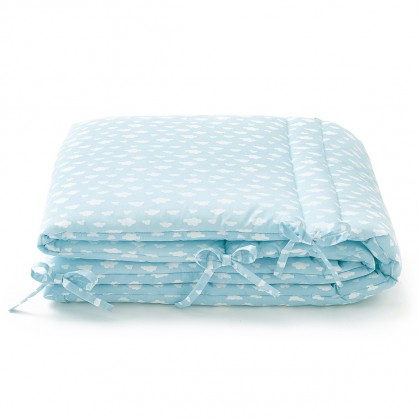 Linge b b made in france turbulettes naissance nids d - Tour de lit bebe nuage ...
