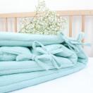 Tour de lit menthe double gaze coton