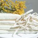 tour de lit blanc gaze de coton ecru
