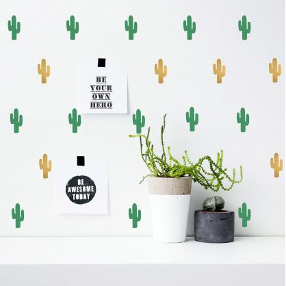 stickers cactus vert or pom le bonhomme