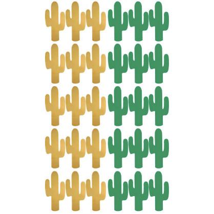 stickers cactus vert or planche