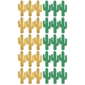 Stickers Cactus vert et or