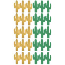 stickers cactus vert or planche
