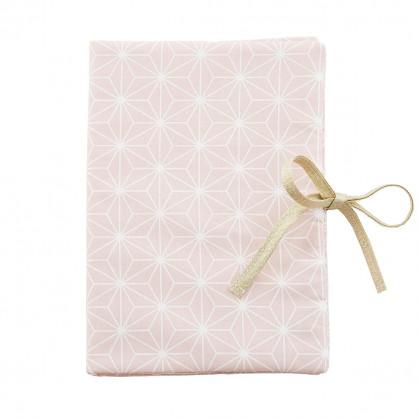 Protège carnet de santé Asanoha rose poudré