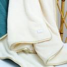 couverture polaire ecru bebe