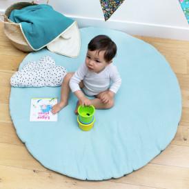Tapis d'éveil bébé rond Mint + Vert Sapin