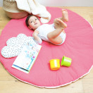 tapis d eveil bebe rond rose corail