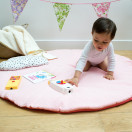 tapis de jeu bebe rose corail