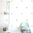Stickers triangle menthe et or
