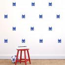 Stickers Masque héros bleu électrique