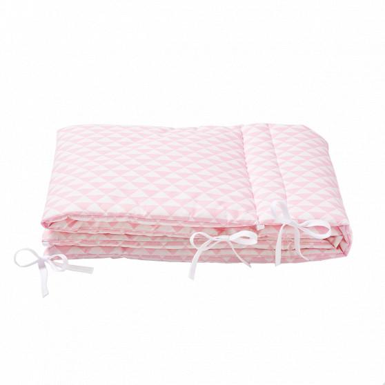 Tour de lit triangle rose dragée