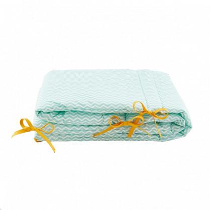 Tour de lit bébé chevron vert menthe