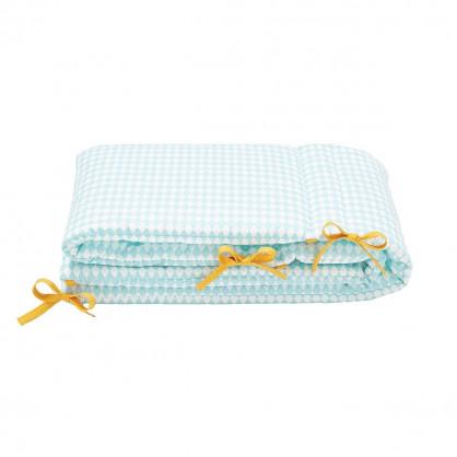 Tour de lit bébé losanges bleu