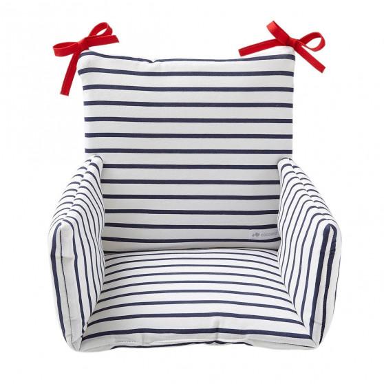 Coussin de chaise haute marinière Bretagne
