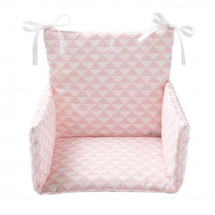 Coussin de chaise haute Triangle rose dragée