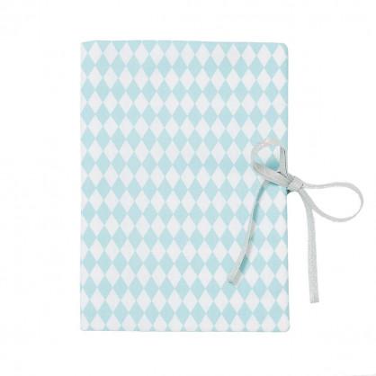 Protège carnet de santé bébé losanges bleu