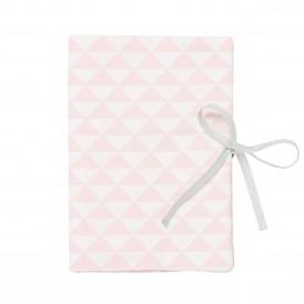 Protège carnet de santé bébé triangle rose dragée