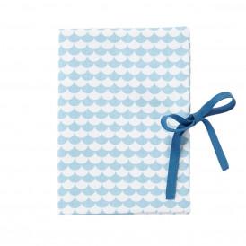 Protège carnet de santé Ecaille bleu ciel