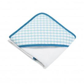 Cape de bain bébé Ecaille bleu ciel