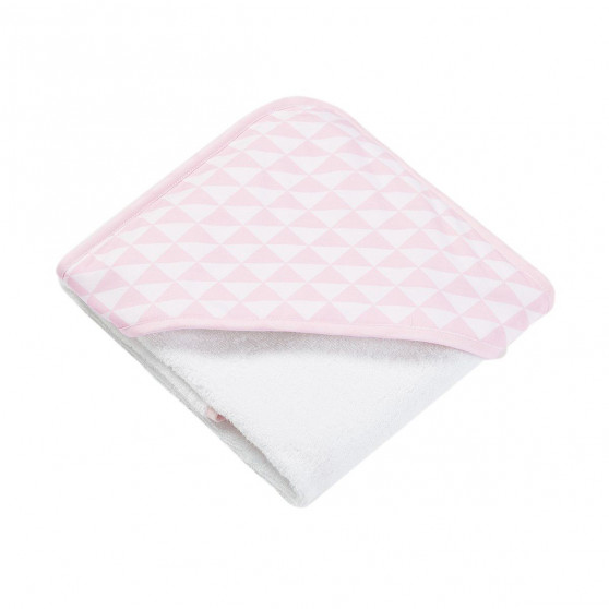Cape de bain bébé Triangle rose dragée