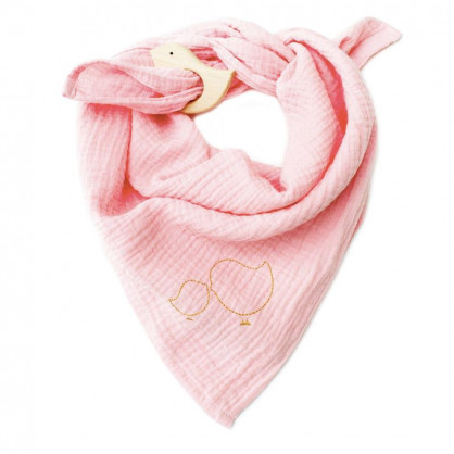 Lange bébé en gaze de coton rose