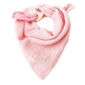 Lange bébé en gaze de coton ROSE BLUSH