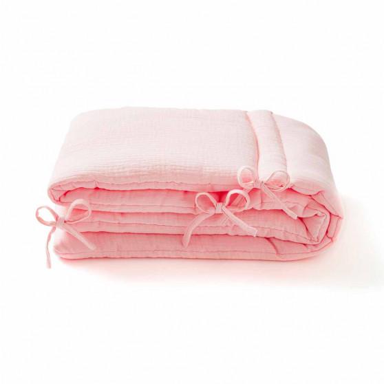 Tour de lit en gaze de coton ROSE BLUSH