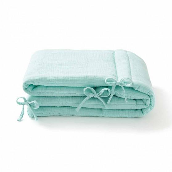 Tour de lit en gaze de coton MENTHE CLAIRE