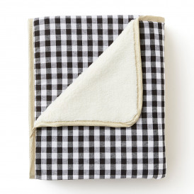 Couverture plaid polaire & coton VICHY