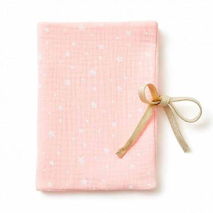 Protège carnet de santé ETOILES ROSE BLUSH
