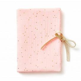 Protège carnet de santé POIS DORE ROSE BLUSH