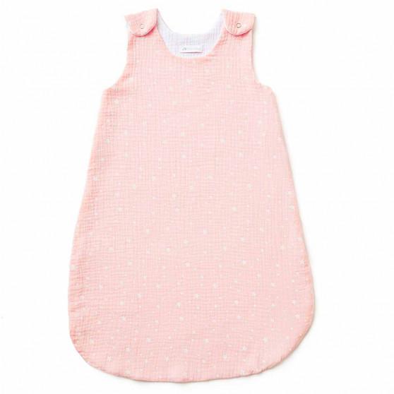 Gigoteuse bébé TOG 1 en gaze de coton ETOILES ROSE BLUSH