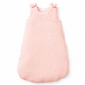 Gigoteuse bébé en gaze de coton POIS DORE ROSE BLUSH