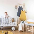 Gigoteuse bébé en gaze de coton ETOILES BLEU GLACIER