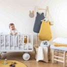 Gigoteuse bébé en gaze de coton ETOILES MENTHE CLAIRE
