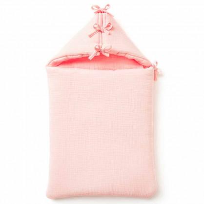 Nid d'ange bébé en gaze de coton ROSE BLUSH