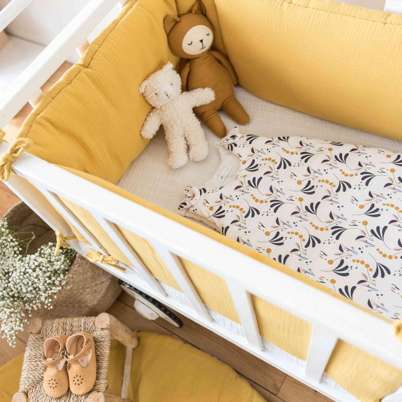 tour de lit 70x140 et 60x120 fille ou gar on en gaze de. Black Bedroom Furniture Sets. Home Design Ideas