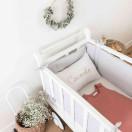 Tour de lit en gaze de coton GRIS CLAIR