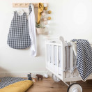 Couverture plaid polaire & coton VICHY